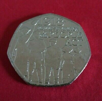 Representation of the People Act 50p 2018 UNCIRCULATED from sealed bag.