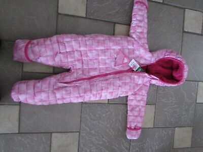 54a57952a New Snozu Pink Baby Bunting Snowsuit Fleece Lined 18M Baby Girl Free Ship