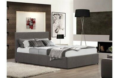 Fabric Grey Ottoman Bed 4ft Double Bed with Memory Spring Mattress Included
