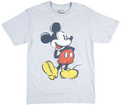 cebd789dd DISNEY MICKEY MOUSE Retro T-Shirt Minnie Disneyland Heather Grey ...