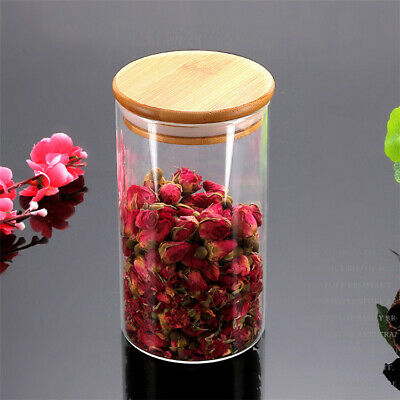 High Quality Borosilicate Glass  Jars Bamboo lids 120 x350ml or 90x550ml bnibs