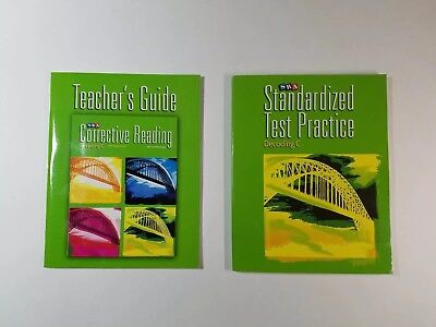 SRA Corrective Reading Level C Decoding Books Test Practice and Teachers Guide