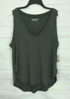 213000c88fd04 POOF LARGE STRIPED High Low Tank Top Pink and Gray L -  10.92