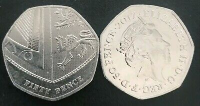 2017 50p,Royal Shield 50p Coin Fifty Pence Rare Coin ,low mintage,isaac newton