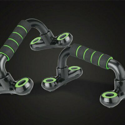 Durable H-type Push-up Frame Green Bracket Home Fitness Muscle Training Device N