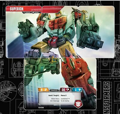 Transformers TCG Wave 2 Rise of the Combiners Superion Complete 5 Characters