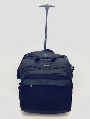 Brookstone Rolling Overnight Office Weekend Carry-On Under Seat Travel Bag