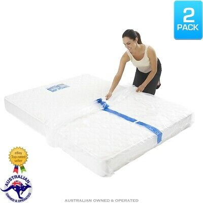 2x Heavy Duty Mattress Protector Storage Bags King Queen Single Bed Moving Cover