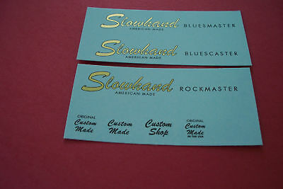Three Guitar or Bass Headstock Waterslide Decals Custom Made or Reproductions