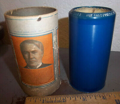Edison Blue Amberol Record Wax Cylinder & box, Band Festival at Plum Center 3152