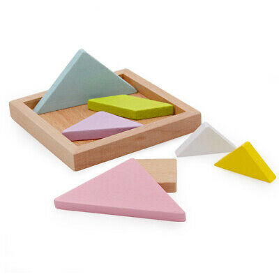 Kids Wooden Tangram Brain Teaser Jigsaw Puzzle Game Educational Toy