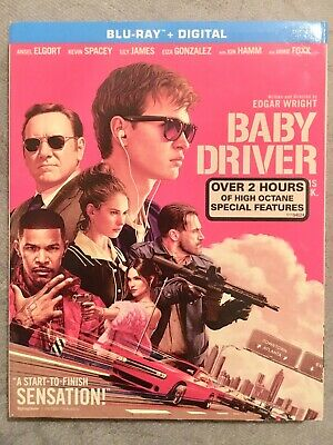 Baby Driver (Blu-ray Disc, 2017, Includes Digital Copy) Mint Condition!
