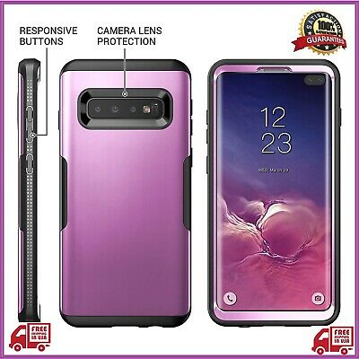 YOUMAKER Case for Galaxy S10 Plus, Metallic Purple Heavy Duty Protection