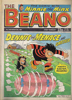 BEANO no. 2436 - March 25th 1989 - Great 30th BIRTHDAY GIFT