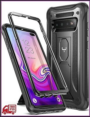 YOUMAKER Case for Galaxy S10+ Plus, Heavy Duty Protection Kickstand Shockproof