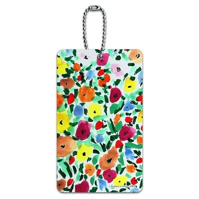 Flower Garden Luggage Card Suitcase Carry-On ID Tag