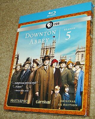 Downton Abbey: Season 5 (Blu-ray Disc, 2015, 3-Disc Set), NEW AND SEALED, PBS