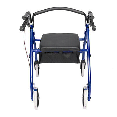 Drive Medical Bariatric Rollator Folding Walker Deluxe Adult 4 Wheels Blue New