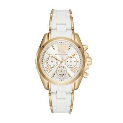 a8d22525b181  BRAND NEW  Michael Kors Women s White Silicone Gold Tone Steel Watch MK6578