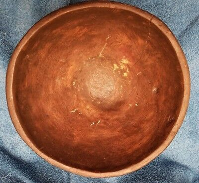 Antique Woodenware Burl Bowl- Large, Heavy,  Dark Wood (Walnut?)