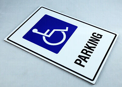 Aluminium Parking Safety Sign Disabled Reserved Australia Made 10Yr Warranty