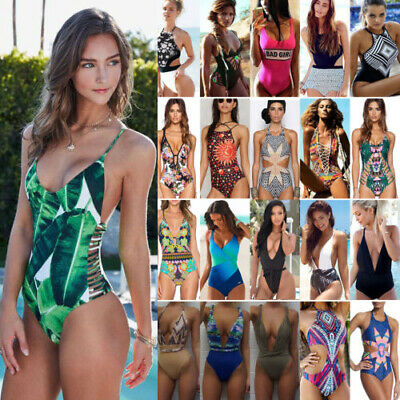 Women One Piece Monokini Bandage Push-up Bikini Summer Beach Swimsuit Bathing