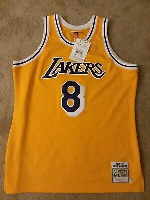 newest d5f2e d4596 NEW KOBE BRYANT 1996-97 Authentic Jersey Mitchell & Ness #8 LAKERS 48 XL