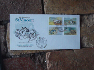 1977  Crabs & Lobsters Grenadines Of St. Vincent  First Day Cover