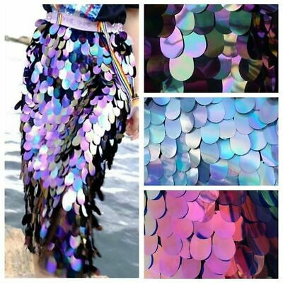 Sparkly Sequin Fabric Fancy Glitter Bling Material Mermaid Costume Decor By Yard