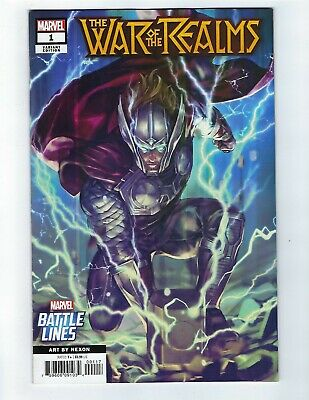 War Of The Realms # 1 Battle Lines Variant Cover NM Marvel