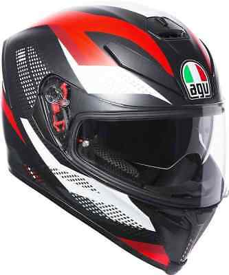 Casco Integrale Agv K-5 S - Marble Matt Black - White - Red Taglia M/l
