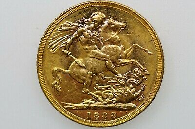1888 Melbourne Mint Gold Full Sovereign in Almost EF Condition