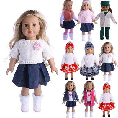 Doll Clothes Dress Outfits Pajames For 18 inch American Girl Our Generation Accs