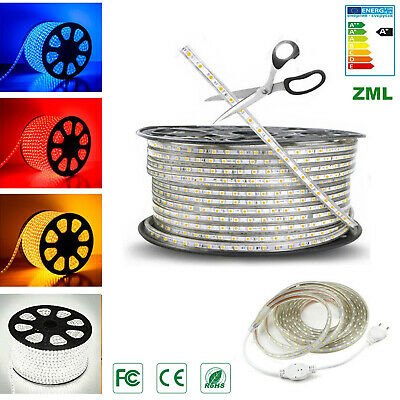 LED Stripe 220V 1M~20M 5050 SMD  60 Chips/m Flexible band seil Licht Wasserdicht