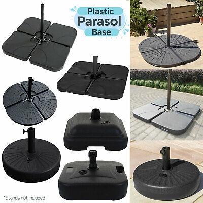 Square Grey Parasol Base Stand Weights for Banana Hanging Cantilever Umbrella