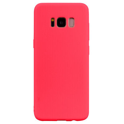 Luxury Silicone TPU Rubber Soft Candy Color Case Cover For Samsung Galaxy S8