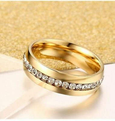 4c00f3dfa 9ct 9K Yellow Gold Filled Men Women Plain Wedding Band Ring Various Size  Fashion