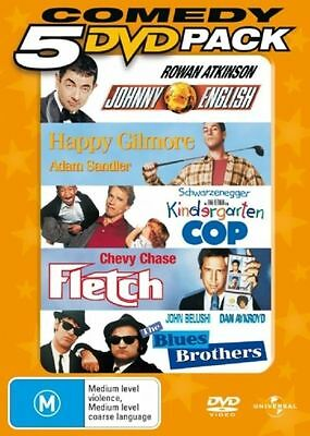 Johnny English, Happy Gilmore, Fletch, Blues Brothers (DVD, 2006, 5-Disc Set)