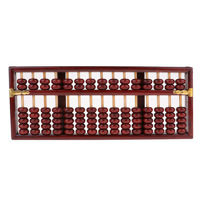 Ancient Wood Chinese Bead Arithmetic Abacus Counting Tool Collection Kit Red