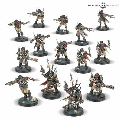 Warhammer Blackstone Fortress 40k Chaos Traitor Guardsmen x14 Brand new