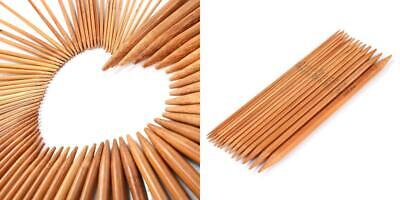 LIHAO 75 PCS Bamboo Knitting Needles Double Pointed Set (2mm To 10mm) 75