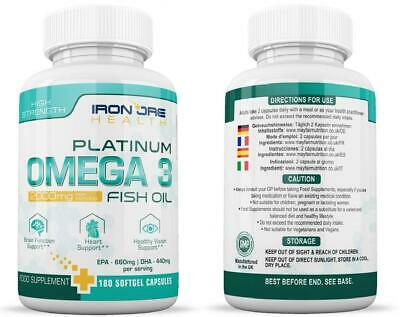 Omega 3 Triple Strength Fish Oil | 2000mg, 660 EPA 440 DHA per Serving |...