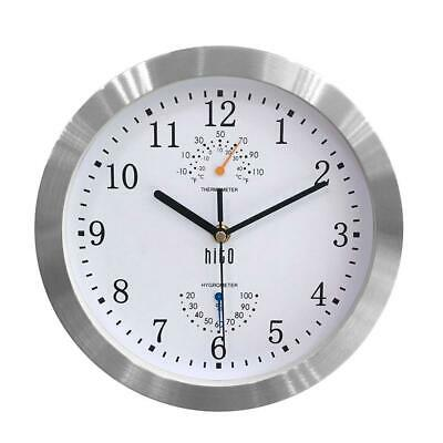 HITO™ Modern Colorful Silent Non-ticking Wall Clock- 10 Inches (T&H-white)