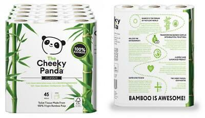 The Cheeky Panda Ultra Sustainable Hypoallergenic 100% Bamboo Toilet Roll...
