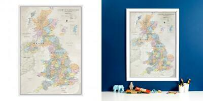 Maps International Classic UK Wall Map - Of The Poster - Front Lamination –...
