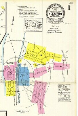 Weissport, Pennsylvania~Sanborn Map©~16 maps in full color