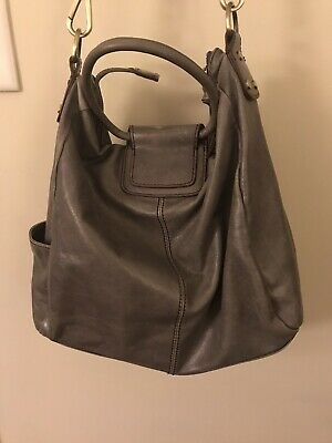 8b8083607b1d7e PREOWNED HOBO INTERNATIONAL Gray Sheila Shoulder Bag - $60.00 | PicClick