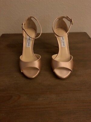 67e7f585a PRICE REDUCED   JIMMY Choo Annie 85 Satin Peep Toe Sandals -  120.00 ...