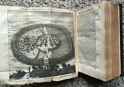1738 Antique Africa Travels Gambia Illustrated Map Syon House Northumberland