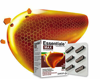 Essentiale Max 30 Caps Liver Support Protection Watroba SAME DAY DISPATCH UK